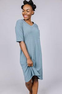 T-SHIRT DRESS Blue