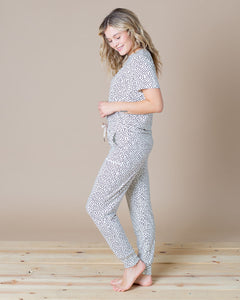 JAM PANTS SET Creamy Dot