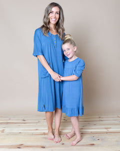 LITTLE LATES DRESS Moonstone