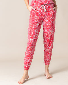 JAM PANTS SET Red & White Dots