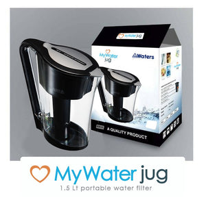 MyWaterJug 1.5L Water filter +3 Pack replacement filters