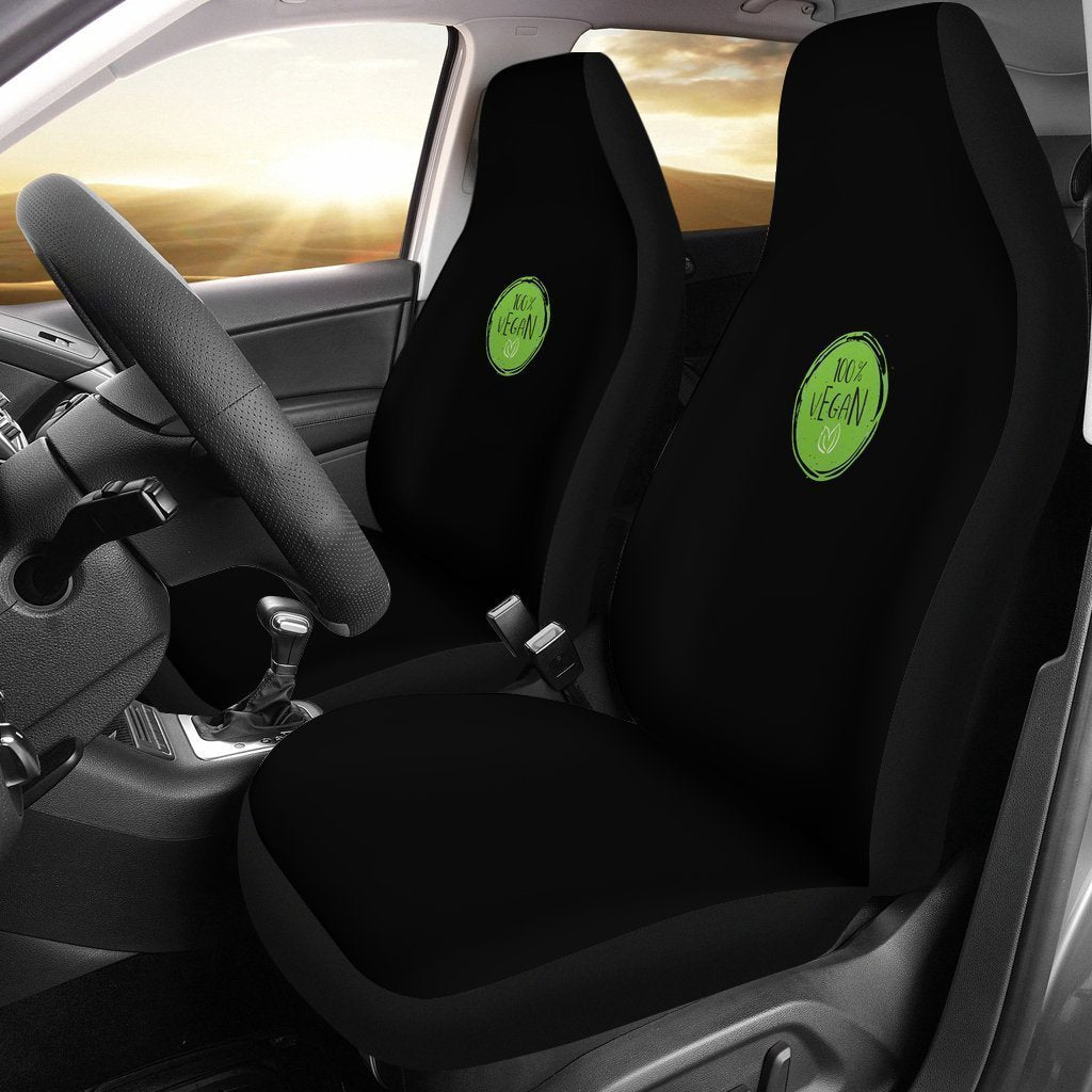100% Vegan Symbol Universal Fit Car Seat Covers GearFrost