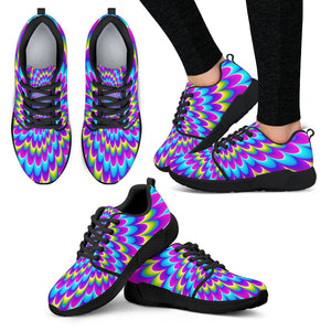 Abstract Dizzy Moving Optical Illusion Women's Athletic Shoes