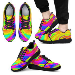 Abstract Liquid Trippy Print Men's Athletic Shoes
