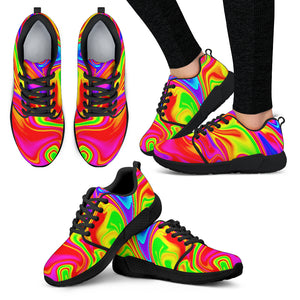 Abstract Colorful Liquid Trippy Print Women's Athletic Shoes