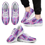 Neon Trippy Pineapple Pattern Print Men's Athletic Shoes