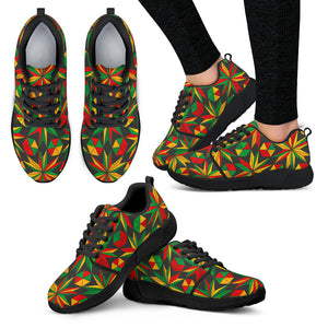 Abstract Geometric Reggae Pattern Print Women's Athletic Shoes