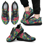 Colorful Aloha Pineapple Pattern Print Men's Athletic Shoes