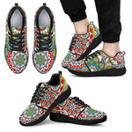 Oriental Mandala Bohemian Pattern Print Men's Athletic Shoes