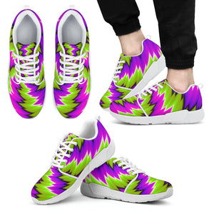 Green Vortex Moving Optical Illusion Men's Athletic Shoes