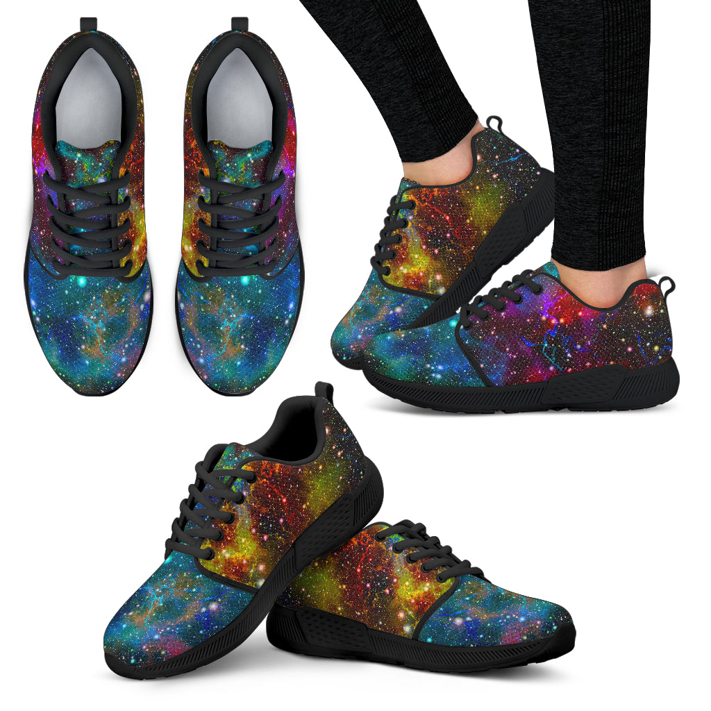 Abstract Colorful Galaxy Space Print Women's Athletic Shoes