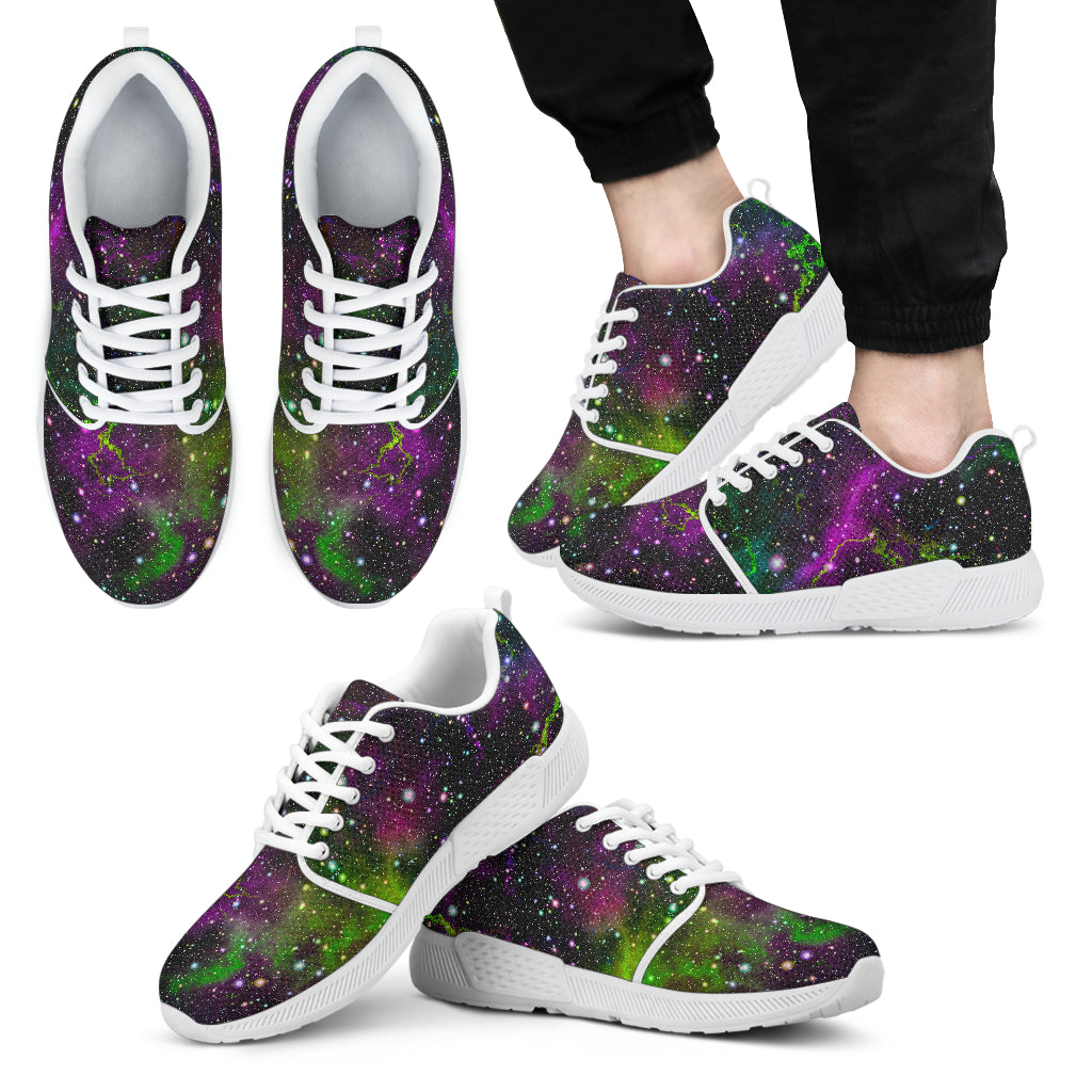 Abstract Dark Galaxy Space Print Men's Athletic Shoes
