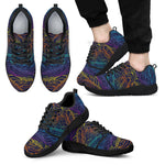 EDM Surfing Wave Pattern Print Men's Athletic Shoes