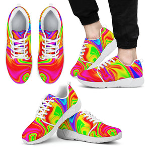 Abstract Colorful Liquid Trippy Print Men's Athletic Shoes