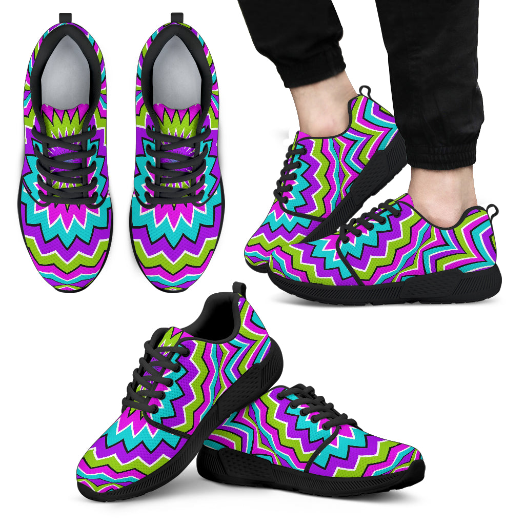 Dizzy Circle Moving Optical Illusion Men's Athletic Shoes