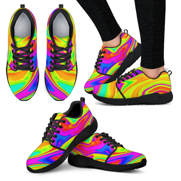 Abstract Liquid Trippy Print Women's Athletic Shoes