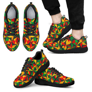 Abstract Reggae Pattern Print Men's Athletic Shoes