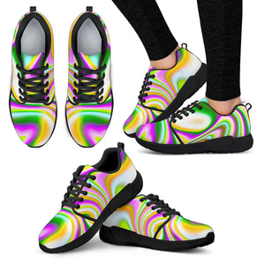 Abstract Holographic Liquid Trippy Print Women's Athletic Shoes