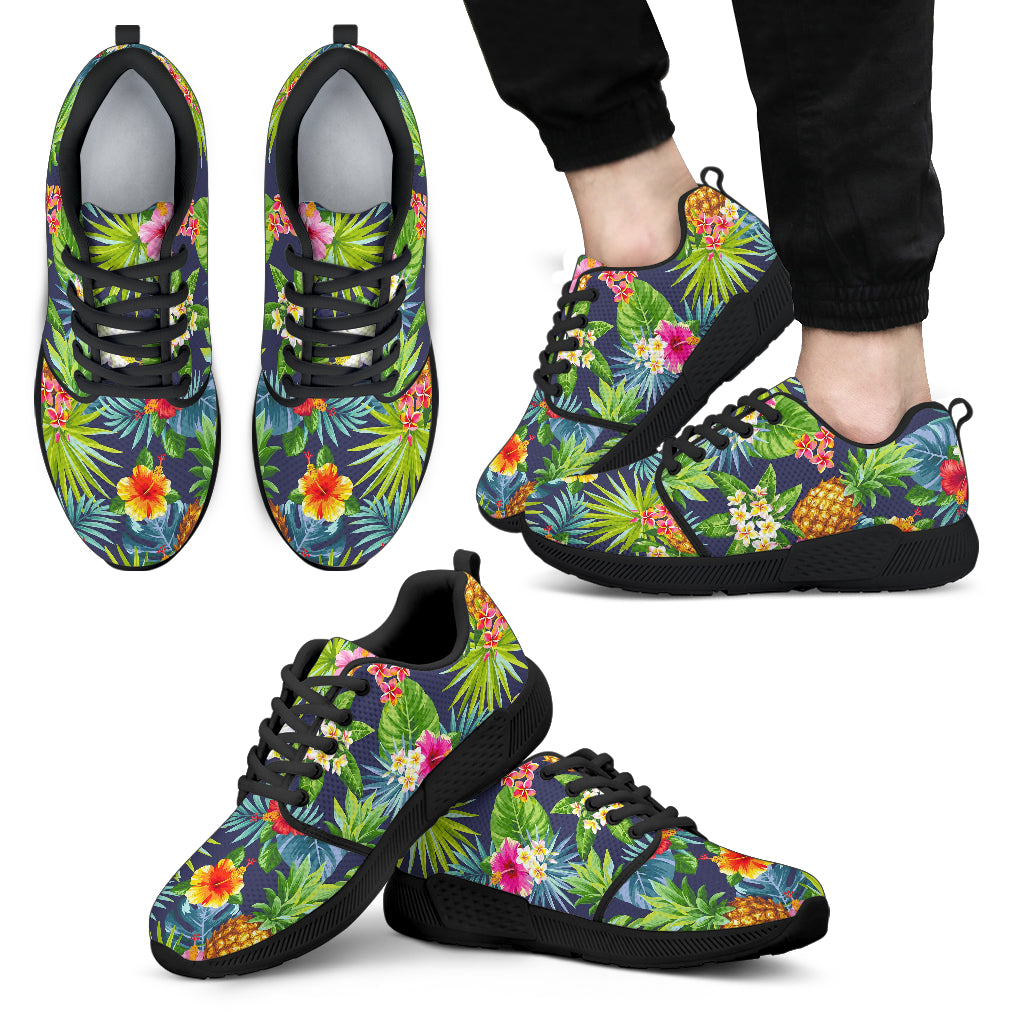Aloha Hawaii Tropical Pattern Print Men's Athletic Shoes