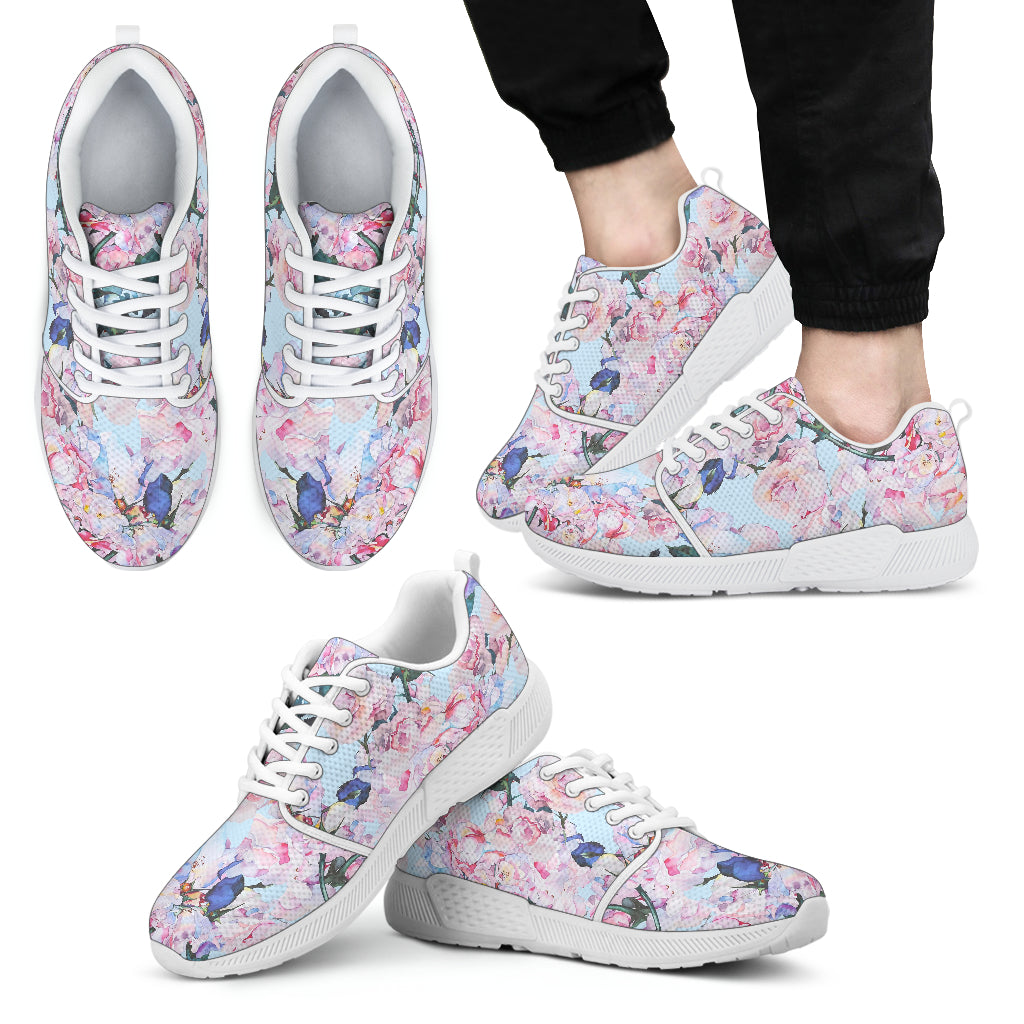 Blossom Floral Flower Pattern Print Men's Athletic Shoes