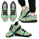 Aloha Summer Pineapple Pattern Print Men's Athletic Shoes