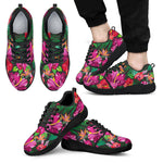 Hawaiian Floral Flowers Pattern Print Men's Athletic Shoes