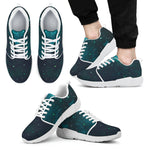 Dark Teal Galaxy Space Print Men's Athletic Shoes