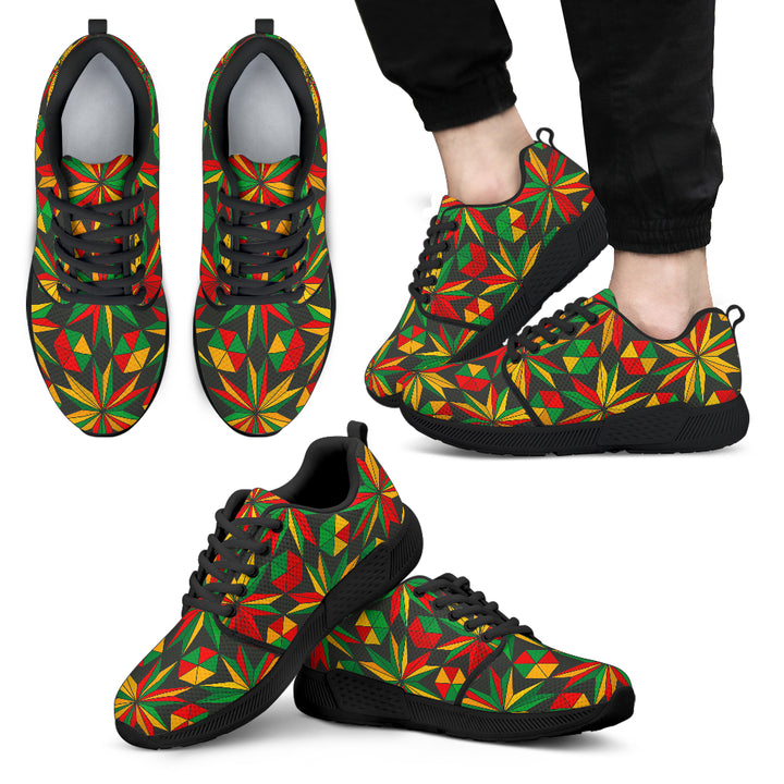 Abstract Geometric Reggae Pattern Print Men's Athletic Shoes