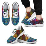 Abstract Colorful Galaxy Space Print Men's Athletic Shoes