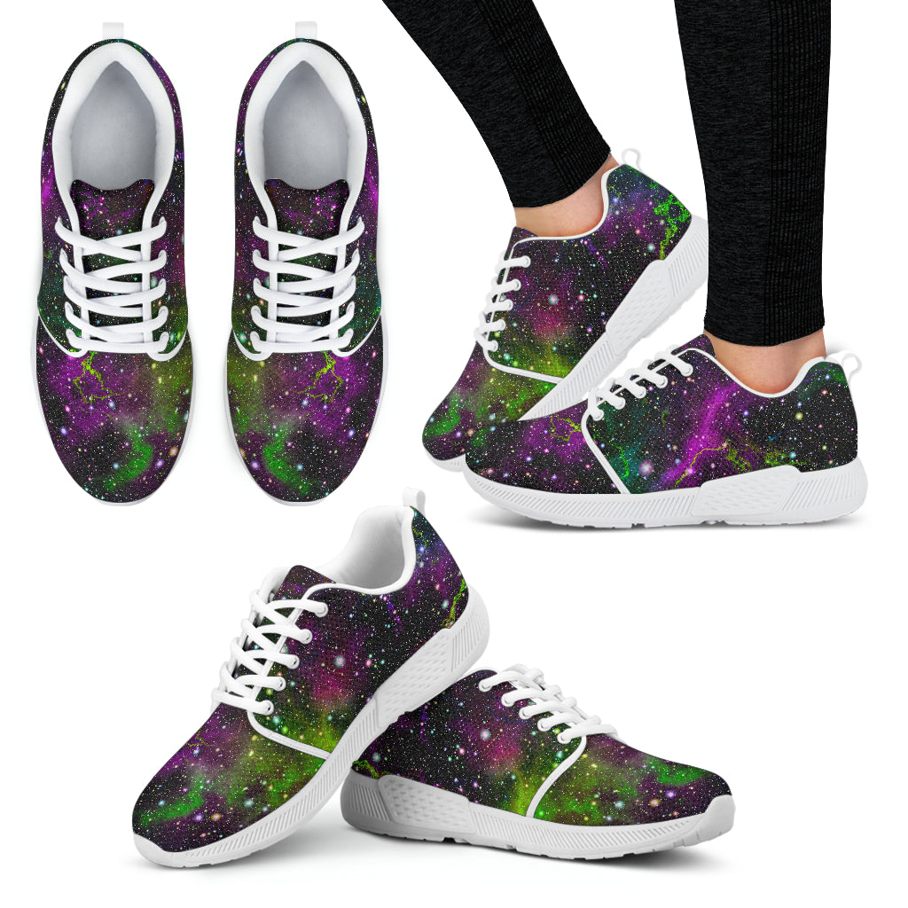 Abstract Dark Galaxy Space Print Women's Athletic Shoes