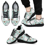 Cute Unicorn Cat Pattern Print Men's Athletic Shoes