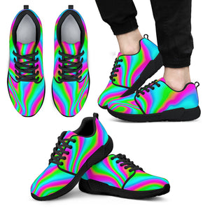 Abstract Psychedelic Trippy Print Men's Athletic Shoes