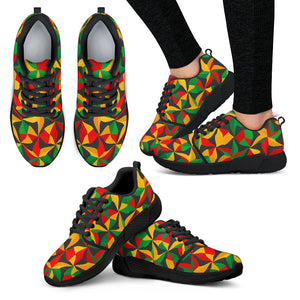 Abstract Reggae Pattern Print Women's Athletic Shoes