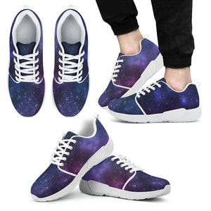 Blue Purple Cosmic Galaxy Space Print Men's Athletic Shoes
