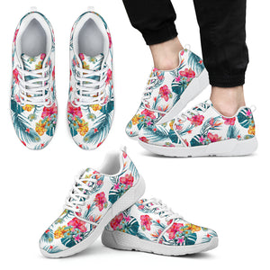 Aloha Hawaii Floral Pattern Print Men's Athletic Shoes