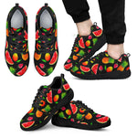 Mix Fruit Pineapple Pattern Print Men's Athletic Shoes