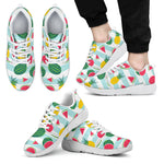 Cute Pineapple Watermelon Pattern Print Men's Athletic Shoes