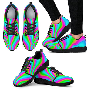 Abstract Psychedelic Trippy Print Women's Athletic Shoes