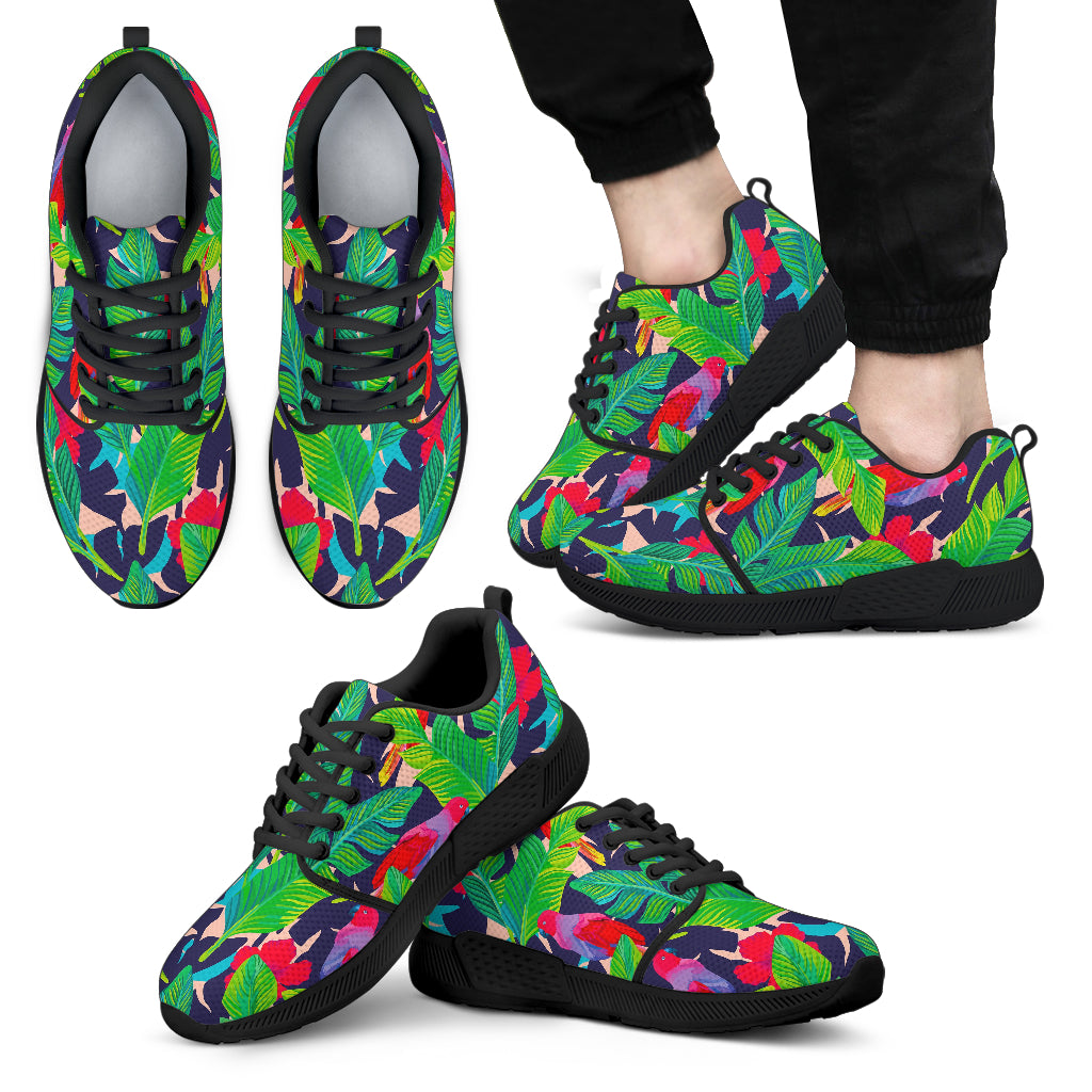 Parrot Banana Leaf Hawaii Pattern Print Men's Athletic Shoes