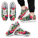 Exotic Hibiscus Flowers Pattern Print Men's Athletic Shoes