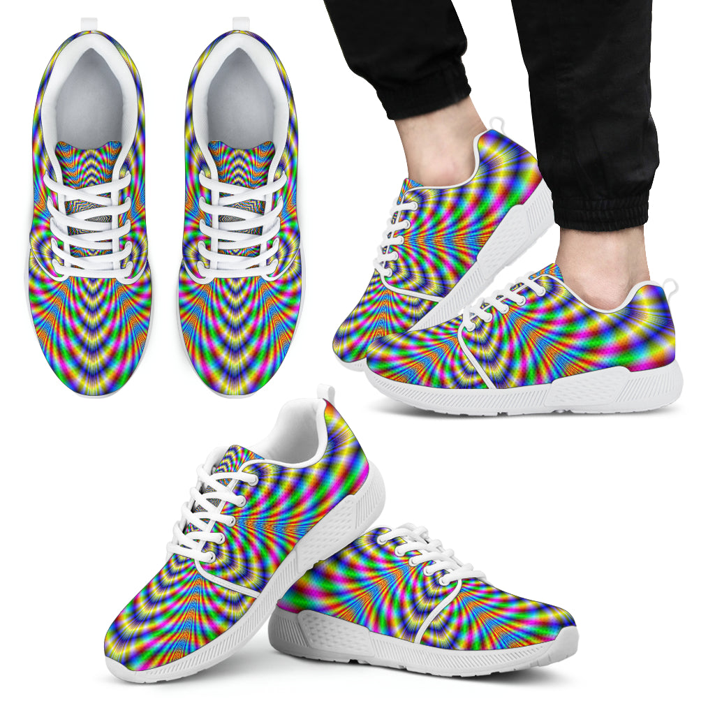 Octagonal Psychedelic Optical Illusion Men's Athletic Shoes