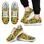 Autumn Sunflower Pattern Print Men's Athletic Shoes