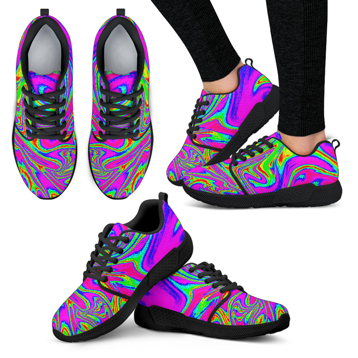 Abstract Psychedelic Liquid Trippy Print Women's Athletic Shoes