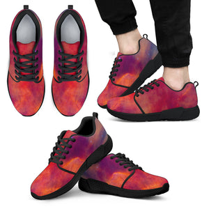 Abstract Nebula Cloud Galaxy Space Print Men's Athletic Shoes