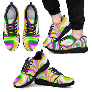 Abstract Holographic Liquid Trippy Print Men's Athletic Shoes