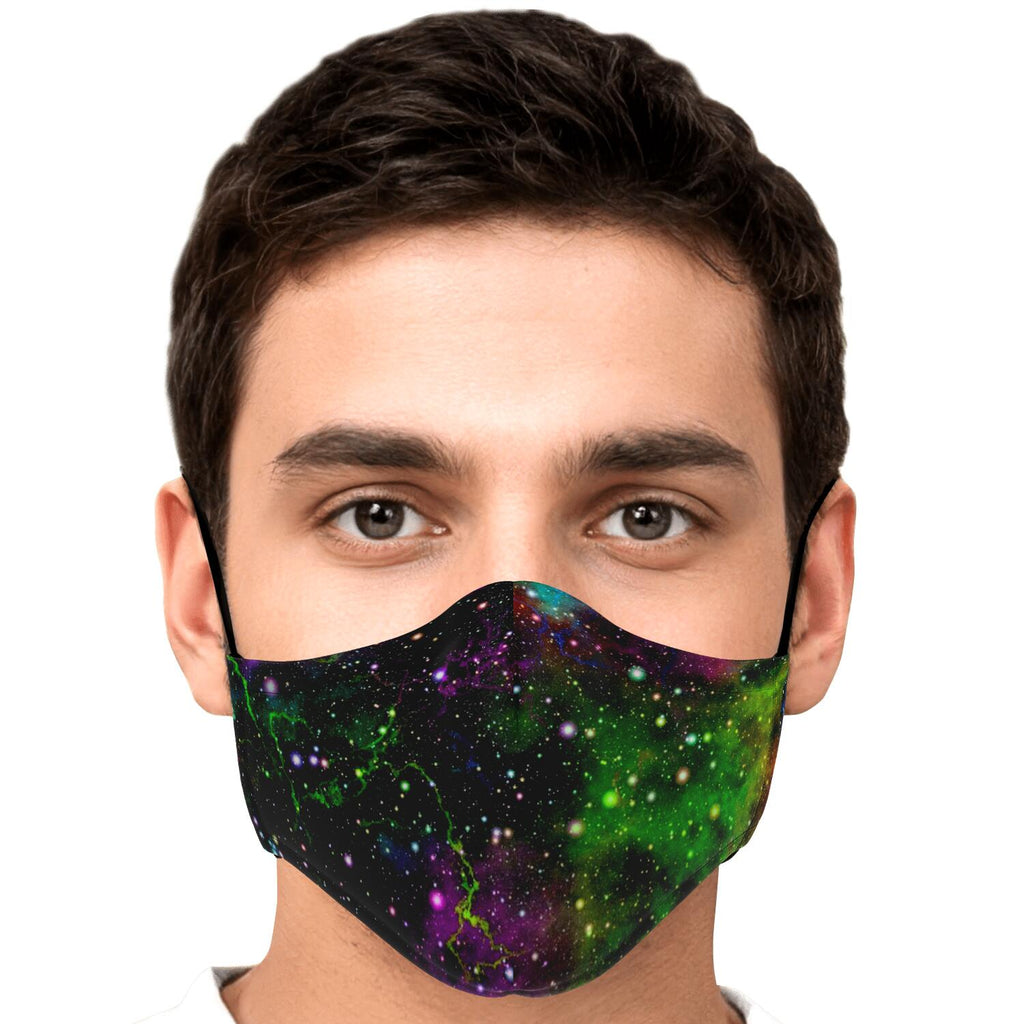 Abstract Dark Galaxy Space Print Face Mask