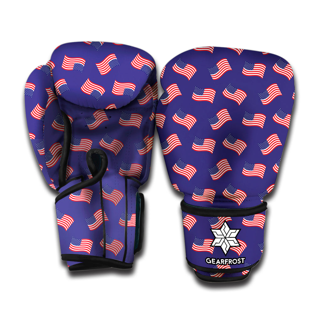 4th of July American Flag Pattern Print Boxing Gloves