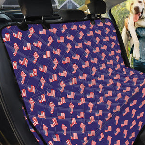 4th of July American Flag Pattern Print Pet Car Back Seat Cover