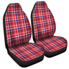 4th of July American Plaid Print Universal Fit Car Seat Covers