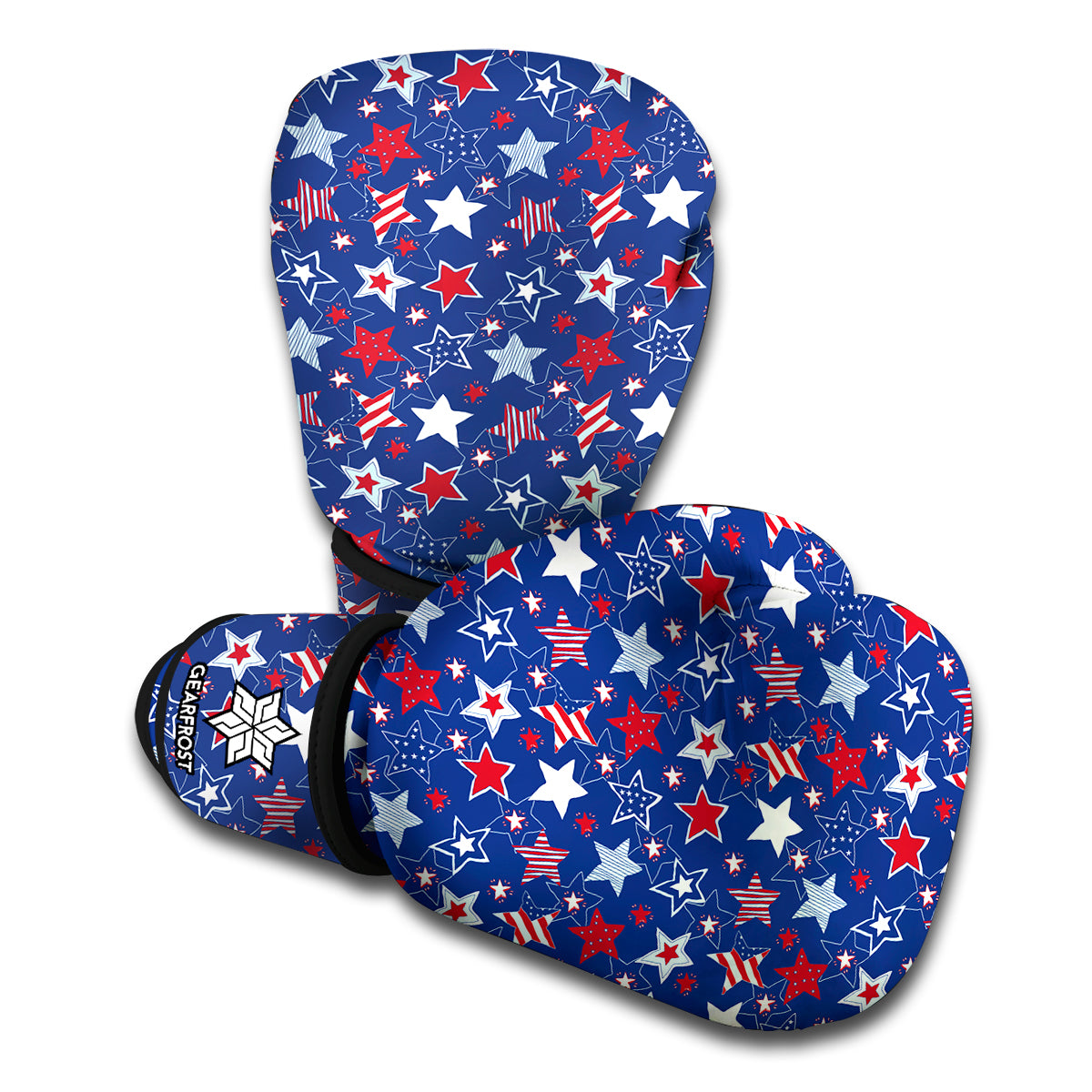 4th of July American Star Pattern Print Boxing Gloves